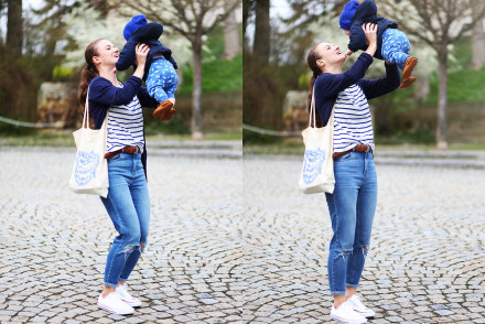Outfit Three Weeks Postpartum Casual Mom Style